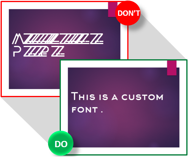 One does not simply use a custom font
