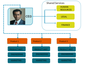 Organization Chart To Define The Divisional Structure