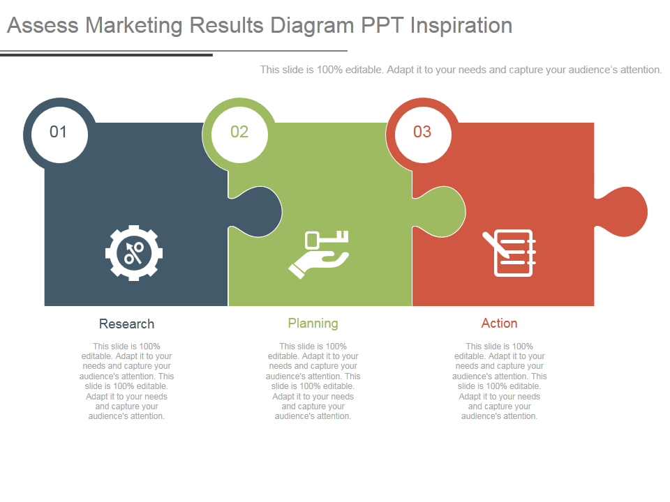 Puzzle Piece showing Assess Marketing Results