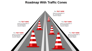 Roadmap with Traffic Cones