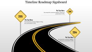 Timeline Roadmap Signboard