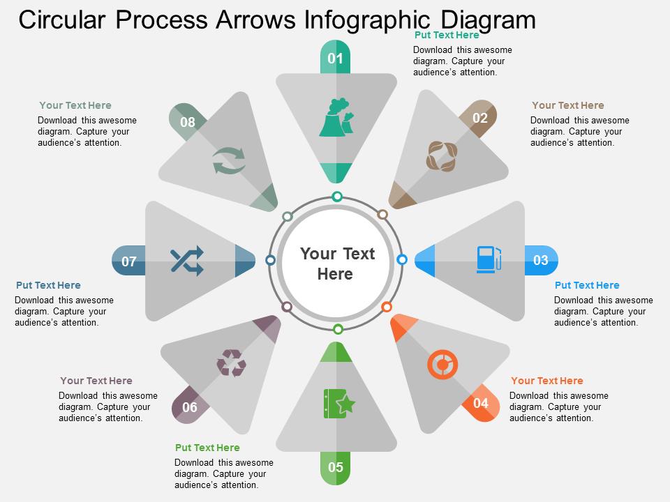 Circular Process Arrow Diagram PowerPoint Template