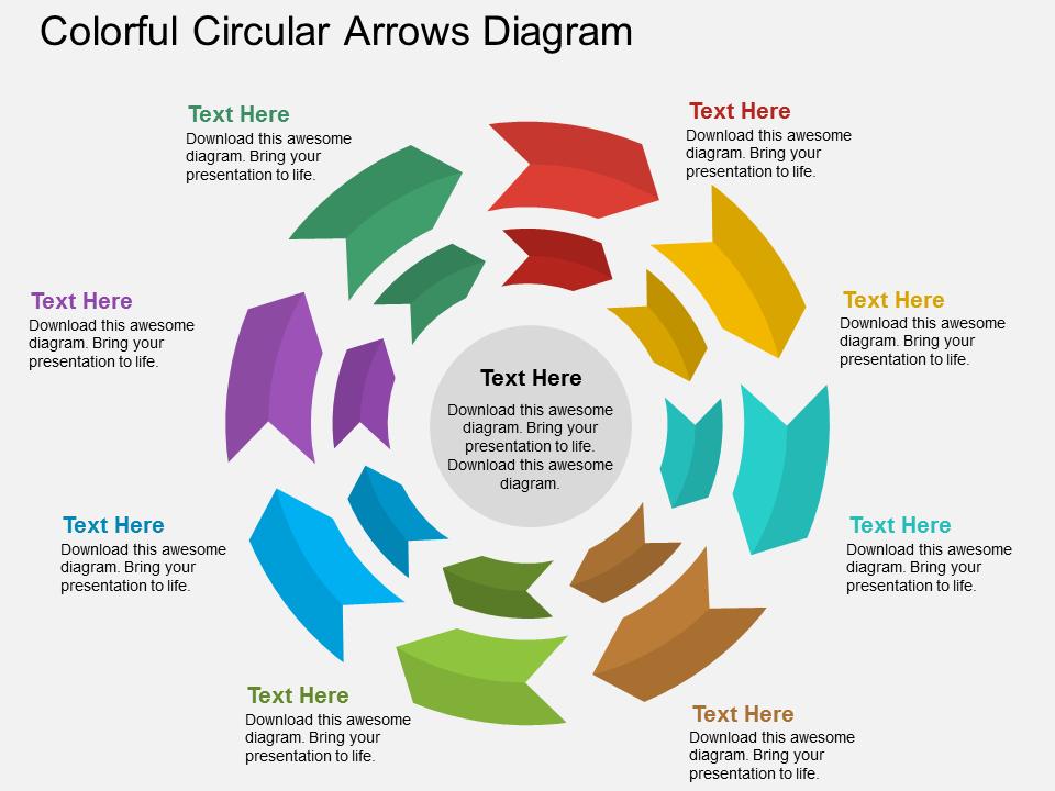 Colorful Circular Arrows Diagram