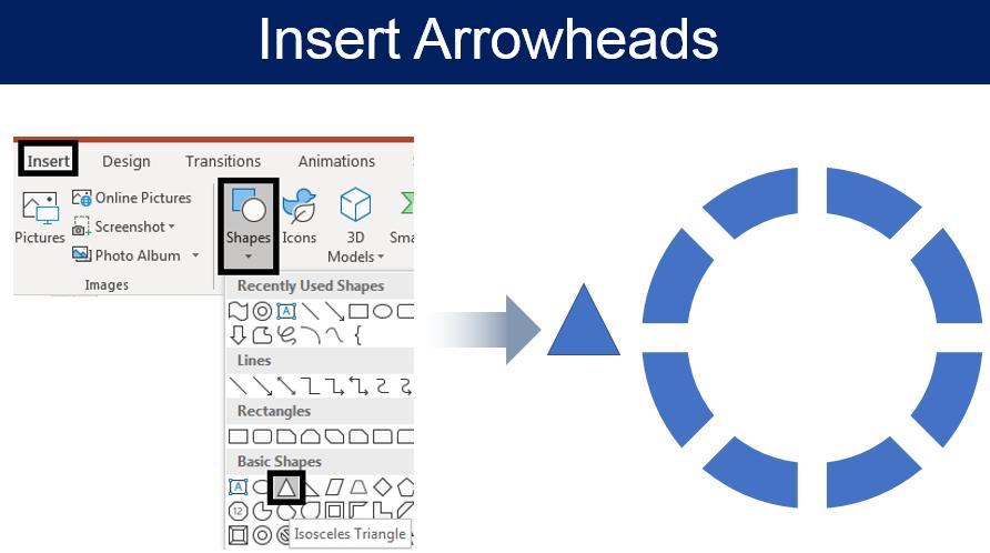 Insert Arrowheads