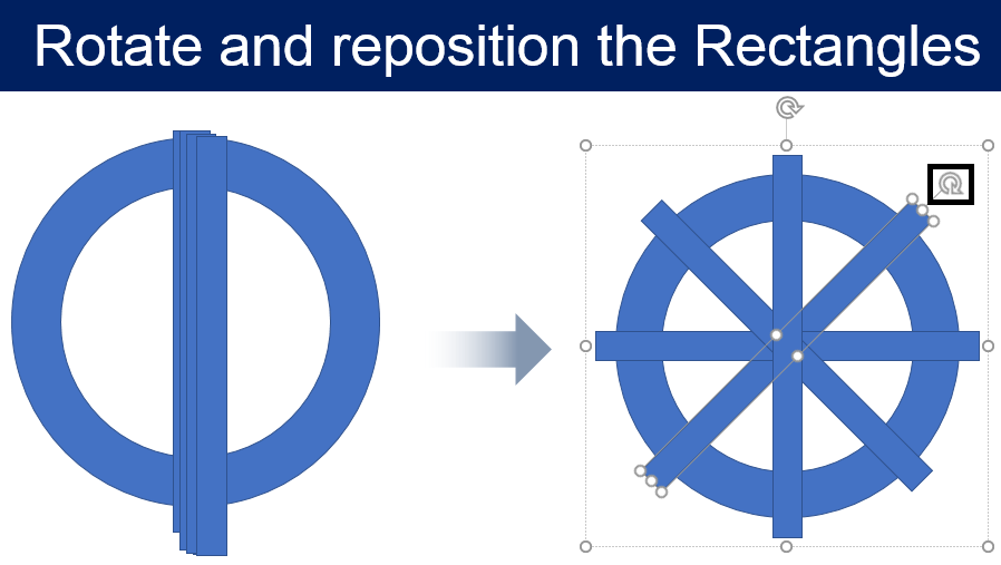 Rotate and reposition the Rectangles