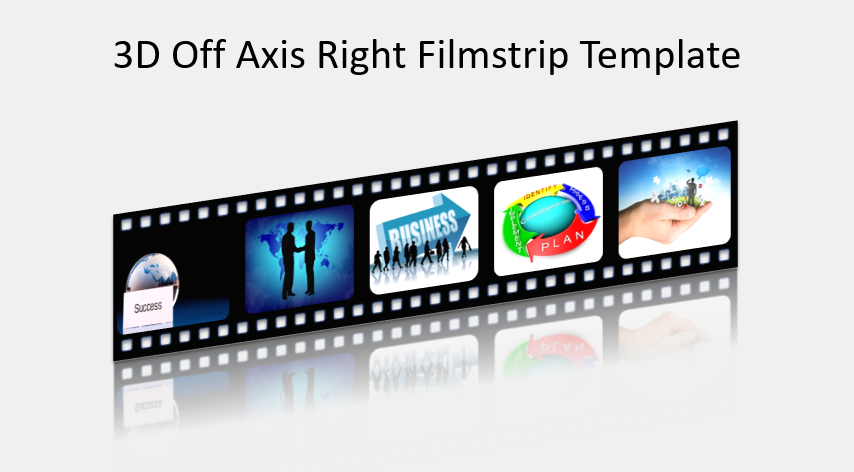 3D Off Axis Right Filmstrip Template