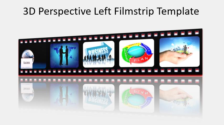 3D Perspective Left Filmstrip Template
