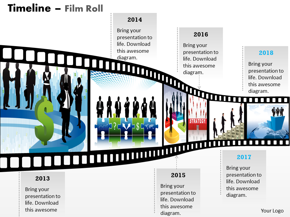 Business Framework Model New Filmstrip Timeline Roadmap Diagram Strategic Management