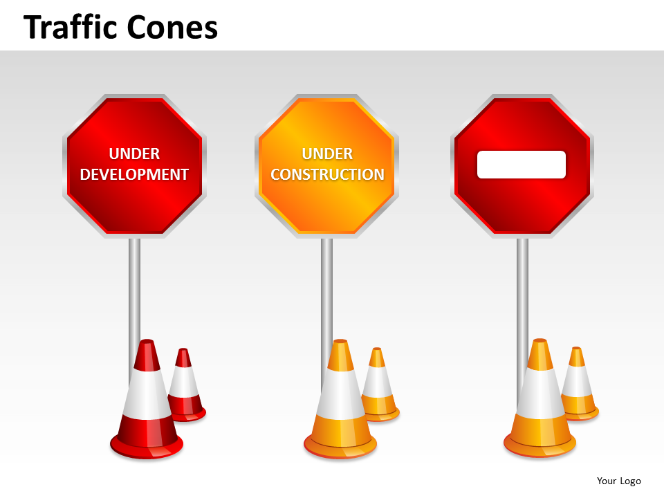Consulting Diagram Traffic Cones Business Cycle Diagram