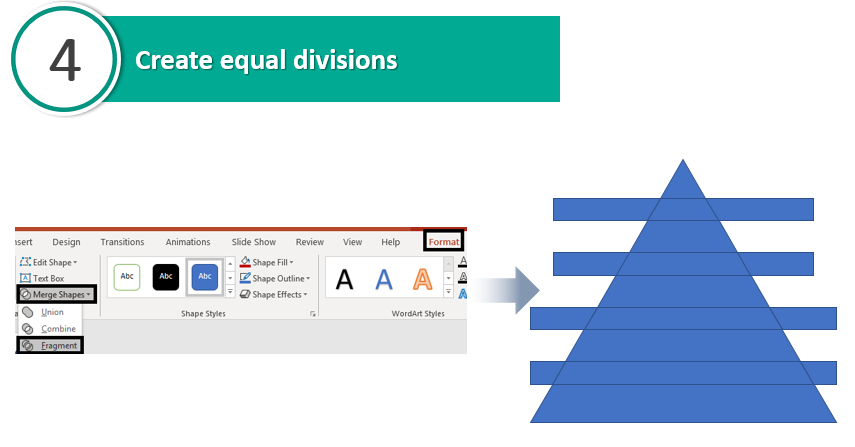Create equal divisions