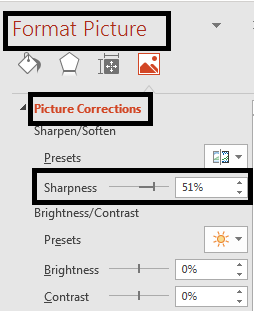 Format the Picture (sharpness)