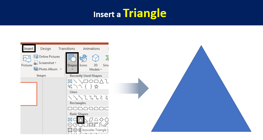 Insert a Triangle