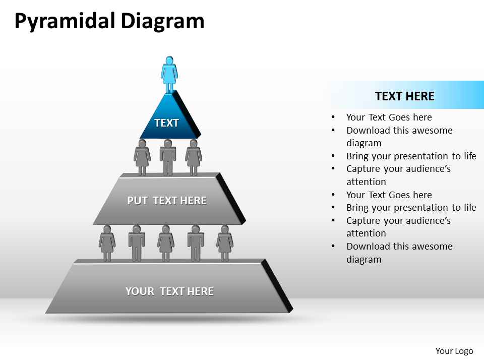 PowerPoint Theme Business Pyramidal Diagram PPT Slides