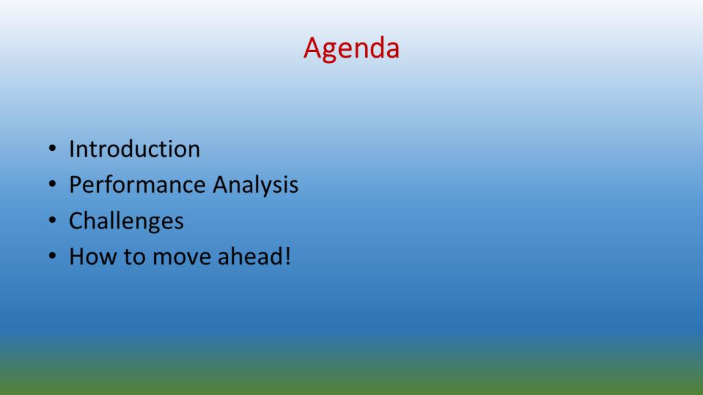 Ugly Agenda Slide
