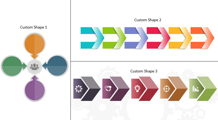 3 Custom Shapes