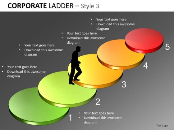 5 Stairs Diagrams PowerPoint Templates