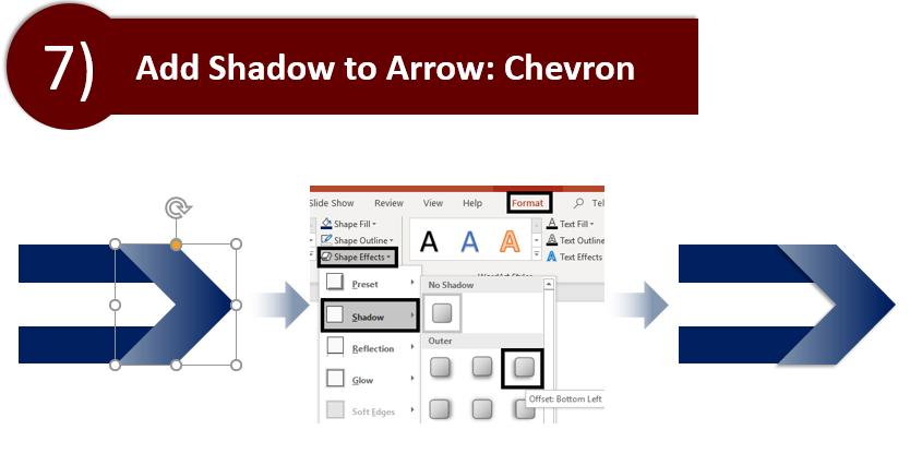 Add Shadow to the Chevron Arrow