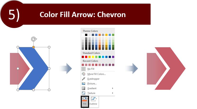 Fill Color in the Chevron Arrow