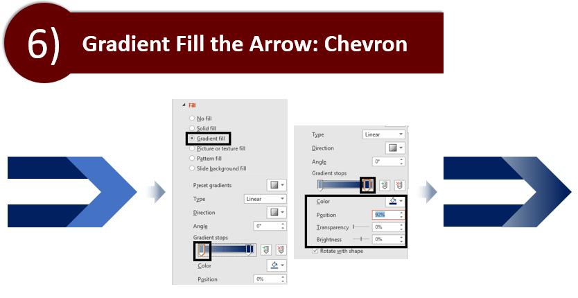 Gradient Fill the Chevron Arrow