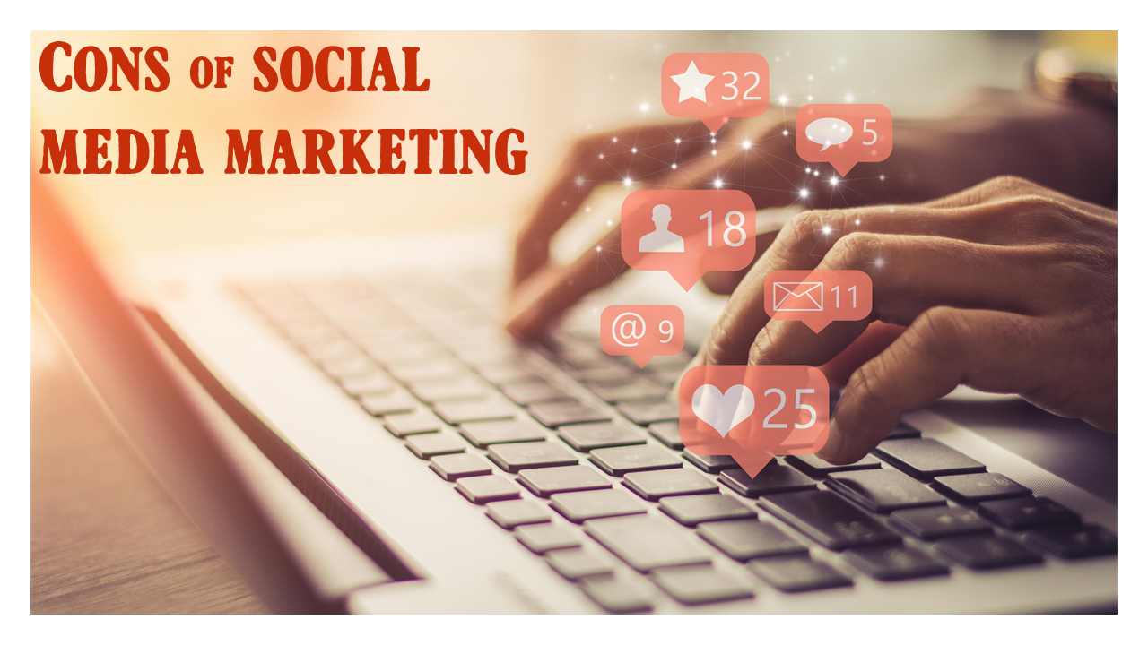 Cons of Social Media Marketing using custom font