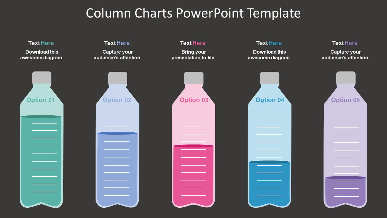 Creative Column Charts PowerPoint Template