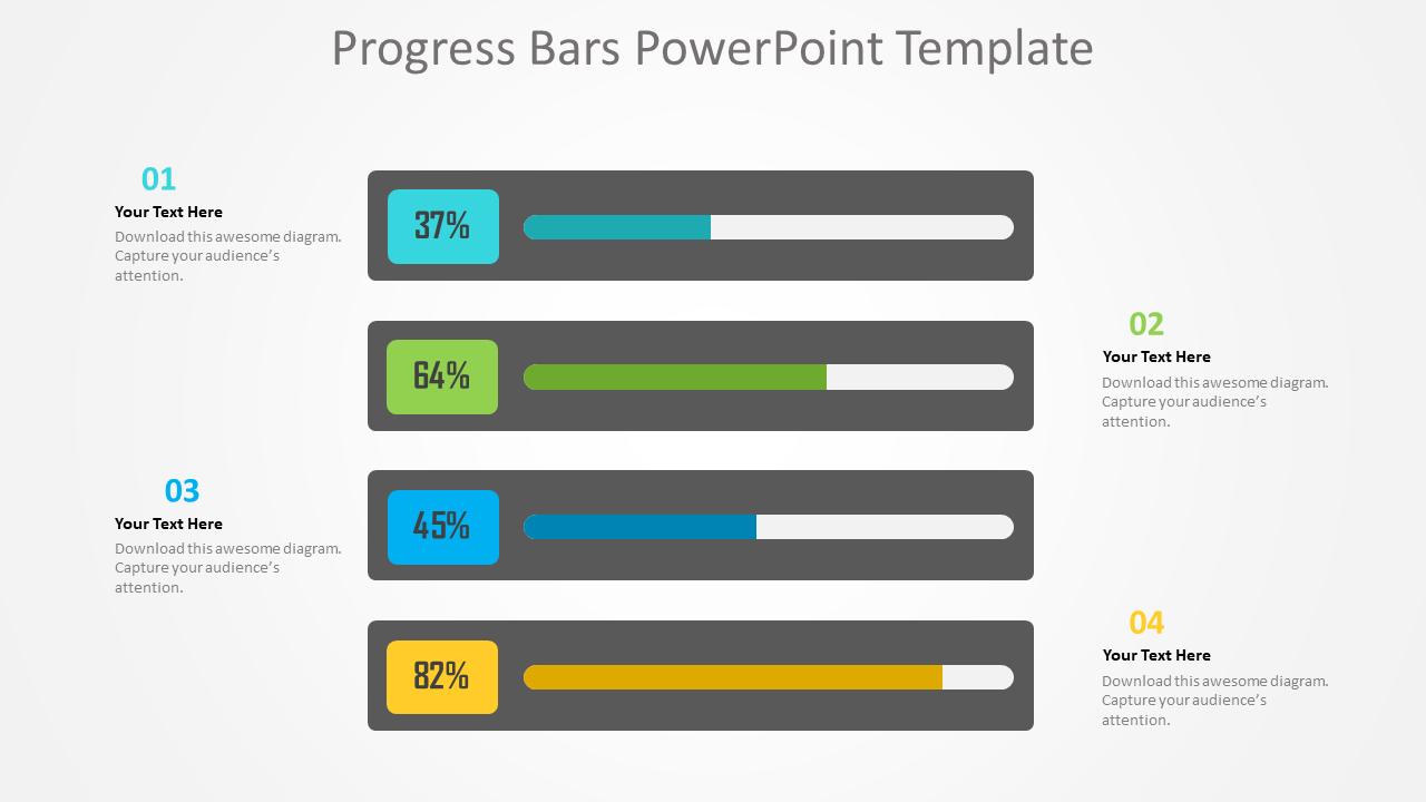 Progress Bars PowerPoint Template