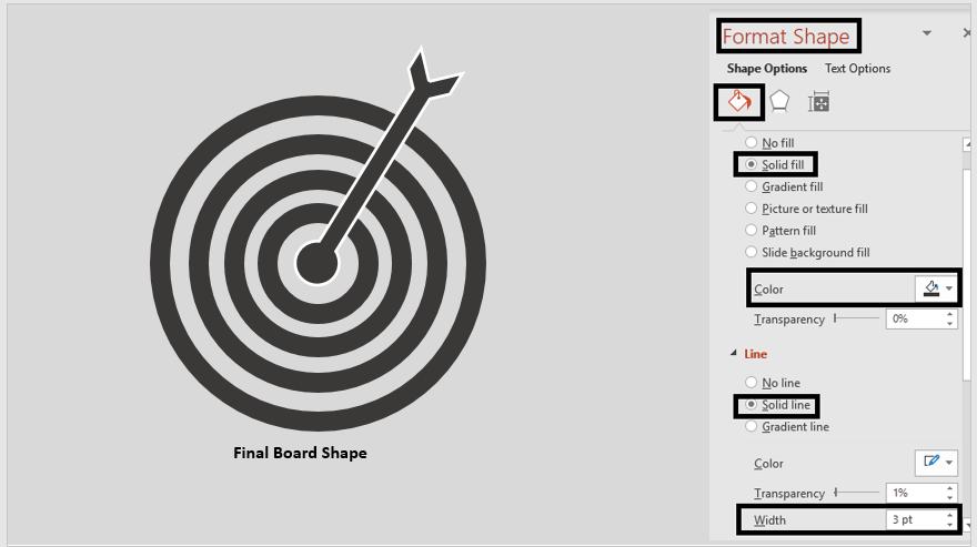 Final Dartboard Shape