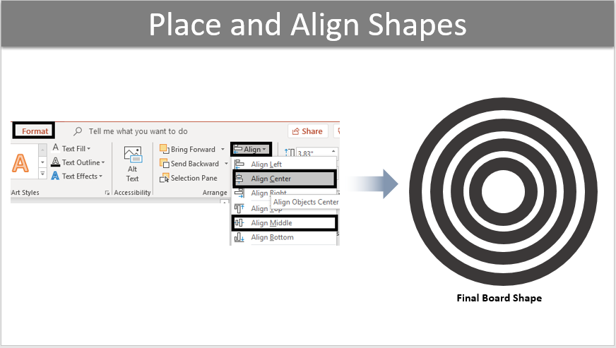 Place and Align the shape