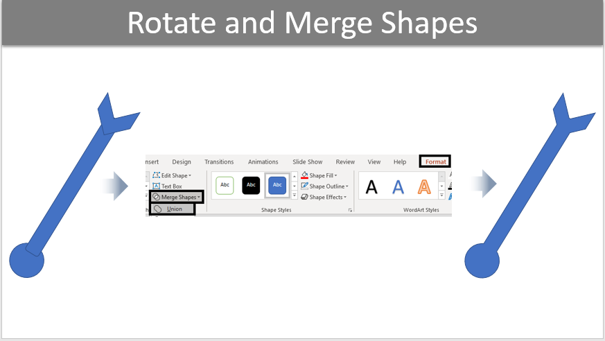 Rotate and Merge Shapes