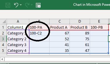 Apply =100-C2 Formula