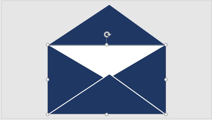 Envelope with a flap