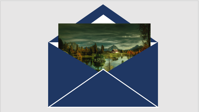 Envelope with an image