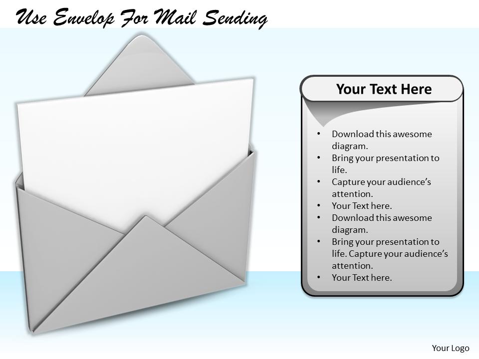 Stock Photo Business Strategy Formulation Use Envelop Mail Sending Success Images