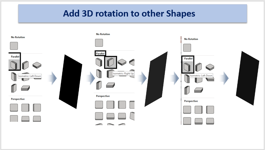 Add 3D Rotation to other shapes