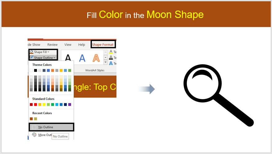 Design #2- Fill Color in the Moon shape