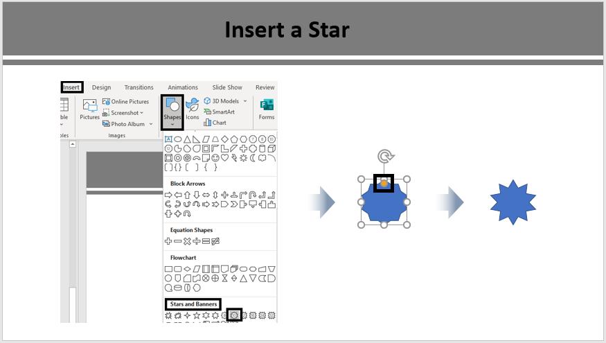 Insert a Star Shape