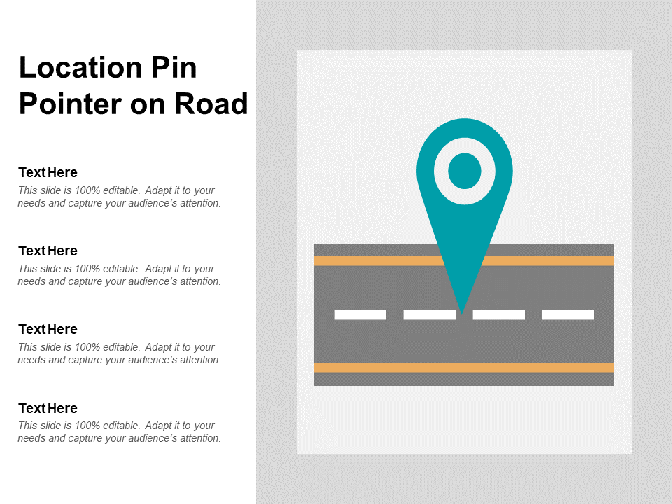 Location Pin Pointer On Road PPT PowerPoint Presentation Model Slide