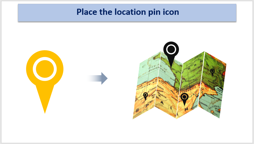 Place the Location Pin icon