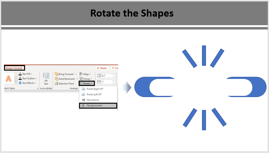 Rotate and Reposition the Shapes