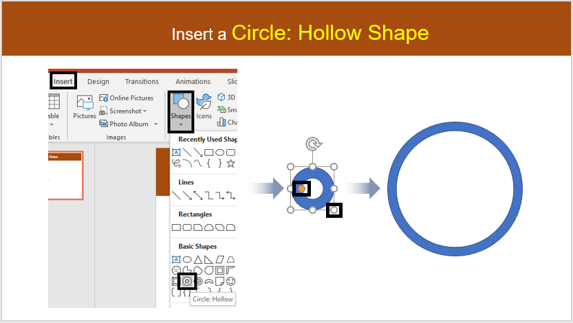 Insert a Circular shape