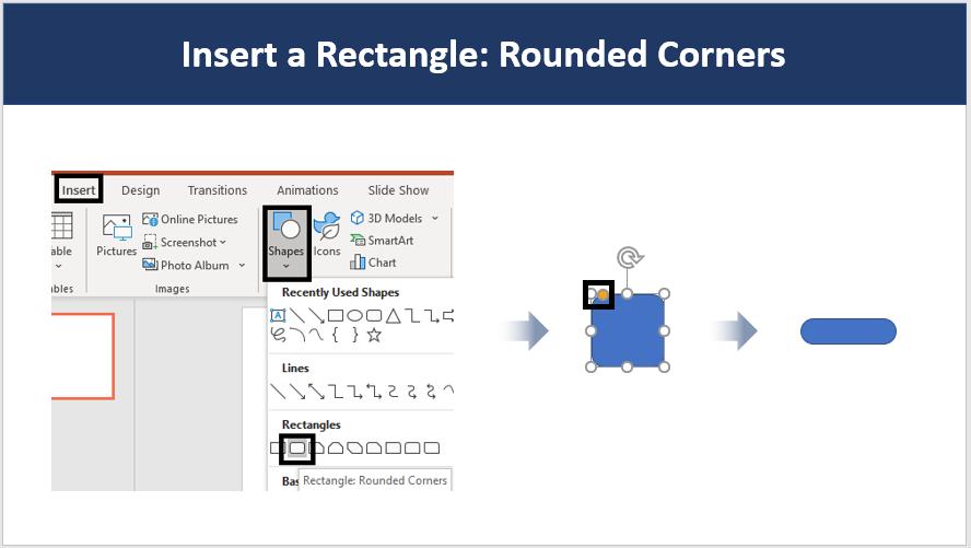 Insert another Rectangular shape