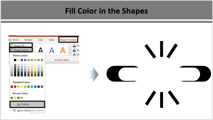 Weakness Icon- Fill Color in the Shapes