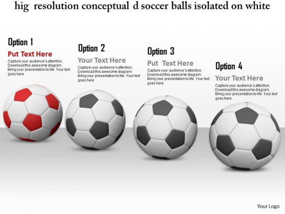 Footballs Image With One Red Football Graphic Image Graphics - Awesome football powerpoint template concept