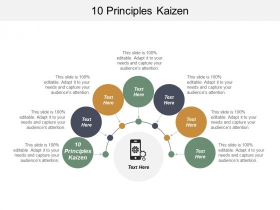 10 Principles Kaizen Ppt PowerPoint Presentation Slides Designs Cpb