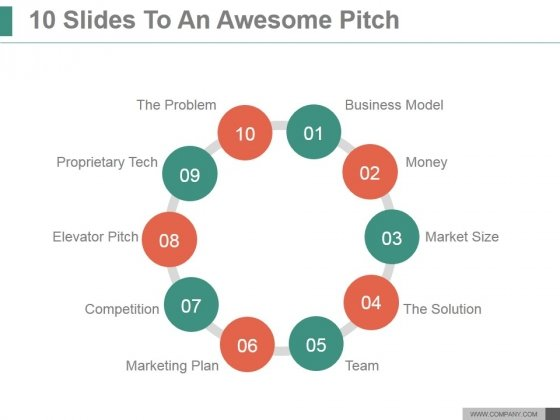 10 Slides To An Awesome Pitch Ppt PowerPoint Presentation Guide