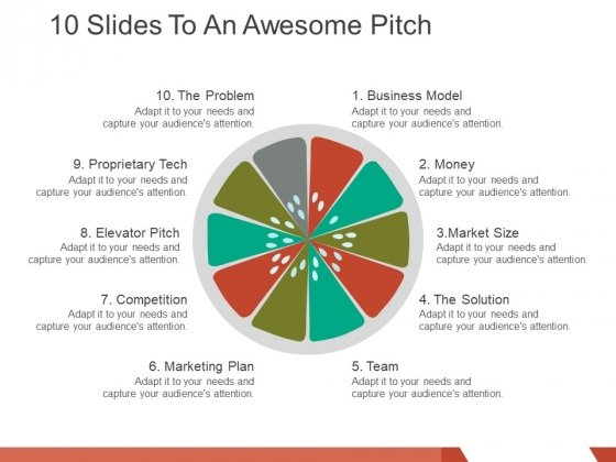 10 slides to an awesome pitch ppt powerpoint presentation inspiration layout ideas