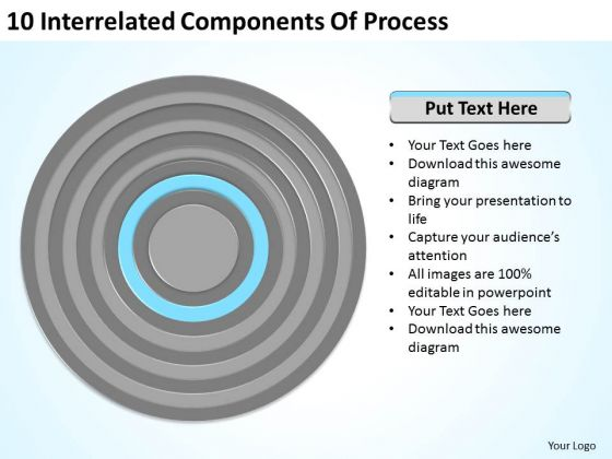 10 Interrelated Components Of Process Ppt Business Continuity Plan Example PowerPoint Slides