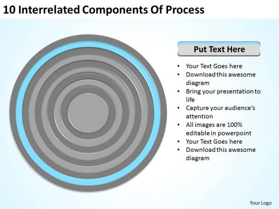 10 Interrelated Components Of Process Ppt Business Plan Form PowerPoint Slides