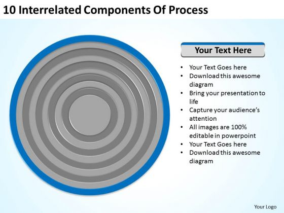 10 Interrelated Components Of Process Ppt Business Plan PowerPoint Slide