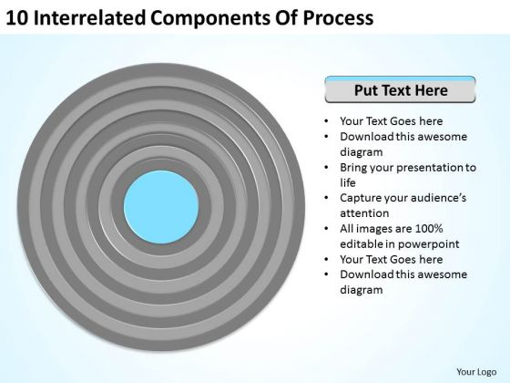 10 Interrelated Components Of Process Ppt Create Business Plan Template PowerPoint Slides